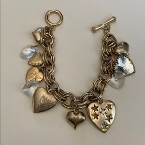 Betsey Johnson Gold Charm Bracelet